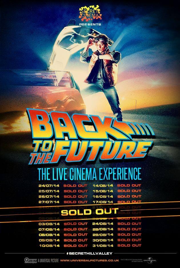 Secret Cinema BTTF soldout