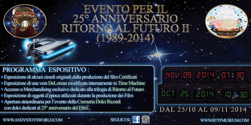 Programma 25° Anniversario BTTF 2
