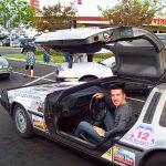 io sulla DeLorean turbo