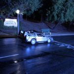 Start-line Delorean nel film