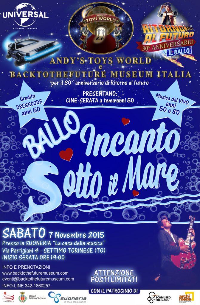 Locandina 30° anniversario Ritorno al Futuro - Il Ballo 7-11-2015