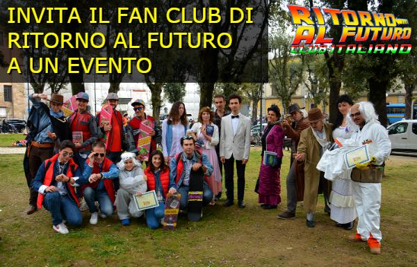 Invita il fan club di Ritorno al Futuro a un evento