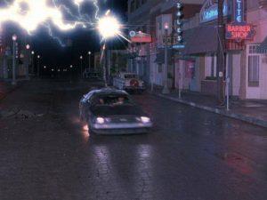 BTTF fulmine alla DeLorean