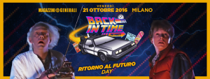 Back In Time The Party - 21 Ottobre 2016