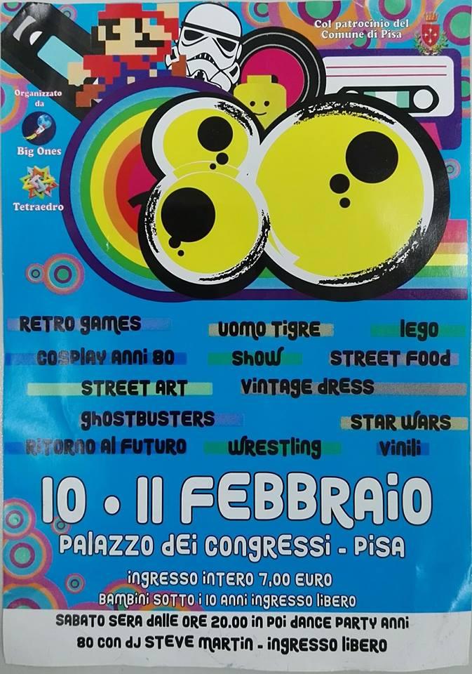 Manifesto 80 Evento - Pisa