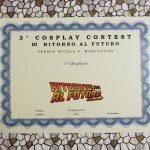 3 Cosplay Contest - attestato
