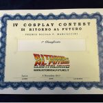 4 Cosplay Contest - attestato