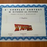 2 Cosplay Contest - attestato