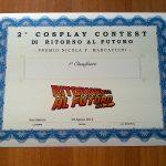 2 Cosplay Contest - attestato