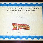 1 Cosplay Contest - attestato