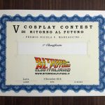 5 Cosplay Contest - attestato